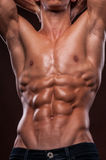 Torso with six pack. Male torso with strong abs Royalty Free Stock Photo