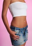 Torso of slim woman Royalty Free Stock Images