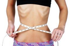 Torso van lijdend aan anorexie jonge vrouw Stock Foto's