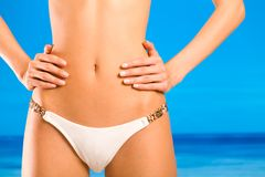 Torso of woman in bikini Royalty Free Stock Photos