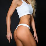 Torso of a young fit woman  Stock Photography