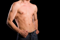 Torso of young man Royalty Free Stock Images
