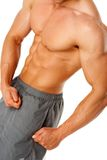 Torso of young muscular man Royalty Free Stock Photo