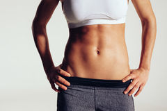 Torso of young sporty woman Stock Photo