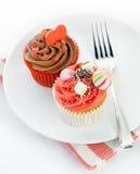 tortów filiżanki czerwień zdjęcie royalty free