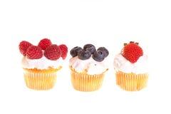 tortów filiżanki owoc Zdjęcia Stock