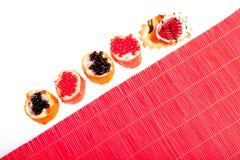 tortów formy odosobniony japoński suszi Obrazy Royalty Free