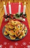 tortów szafranowy szwedów stół Zdjęcie Stock