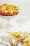 Tort, biały chleb z drożdże z migdałami Zdjęcie Stock