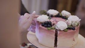 Tort Cukierku baru ślub, cukierku bufet zbiory wideo