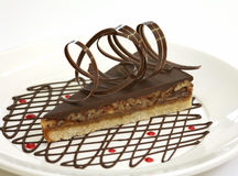 tort czekoladowy orzech włoski Zdjęcia Royalty Free