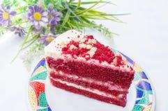 tort czerwony aksamit Obraz Royalty Free