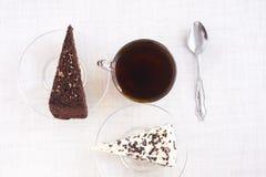 Tort Deser Herbata Jedzenie deliciouses słodki obraz stock
