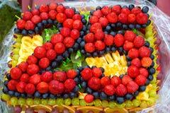 Tort dla 25 rok Zdjęcia Stock
