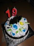 Tort dla 19th rok dziewczyn i chłopiec zdjęcia royalty free