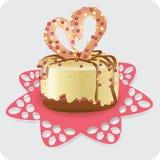 Tort dla ukochanego Wektorowego wizerunku Obrazy Royalty Free