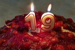 Tort dla urodziny obraz stock