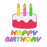 Tort dla urodziny Zdjęcia Stock