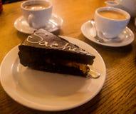 Tort i kawa Obrazy Royalty Free