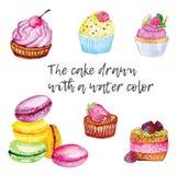 tort i muffins Zdjęcie Stock