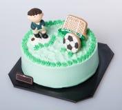 tort lub futbolu tort na tle Fotografia Royalty Free