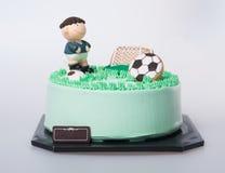 tort lub futbolu tort na tle Zdjęcie Stock