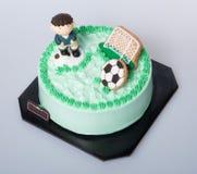 tort lub futbolu tort na tle Zdjęcia Stock
