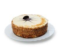 Tort na naczyniu zdjęcie royalty free
