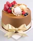 Tort, na tle Ice-cream tort obrazy stock