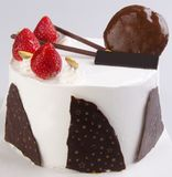 Tort, na tle Ice-cream tort fotografia royalty free