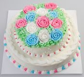 Tort, na tle Ice-cream tort zdjęcie royalty free