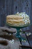 Tort na tortowym stojaku Fotografia Royalty Free
