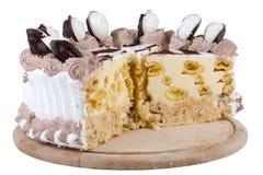 Tort odizolowywający na biel Zdjęcie Stock