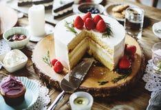Tort piekarni wydarzenia przyjęcia Wyśmienicie Deserowy przyjęcie Zdjęcie Royalty Free