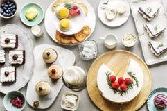 Tort piekarni wydarzenia przyjęcia Wyśmienicie Deserowy przyjęcie Fotografia Stock
