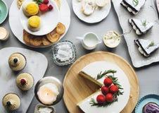 Tort piekarni wydarzenia przyjęcia Wyśmienicie Deserowy przyjęcie Obraz Stock