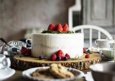 Tort piekarni wydarzenia przyjęcia Wyśmienicie Deserowy przyjęcie Obrazy Stock