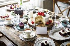 Tort piekarni wydarzenia przyjęcia Wyśmienicie Deserowy przyjęcie Zdjęcia Stock