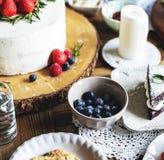 Tort piekarni wydarzenia przyjęcia Wyśmienicie Deserowy przyjęcie Obrazy Royalty Free