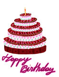 tort urodzinowy. obraz stock