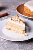 Tort z arachidami na talerzu Obrazy Stock