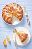 Tort z brzoskwiniami obrazy royalty free