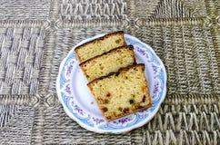 Tort z candied owoc Zdjęcie Royalty Free