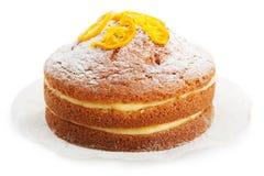 Tort z cytryna proszkiem fotografia stock