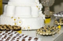 Tort z czekoladą i dokrętkami obrazy stock