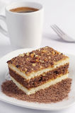 Tort z czekoladą i kawą Obraz Royalty Free