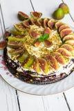 Tort z figami Fotografia Royalty Free