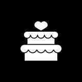 Tort z hearth ikoną Obrazy Stock