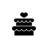 Tort z hearth ikoną Obrazy Royalty Free
