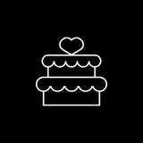 Tort z hearth ikoną Zdjęcia Stock